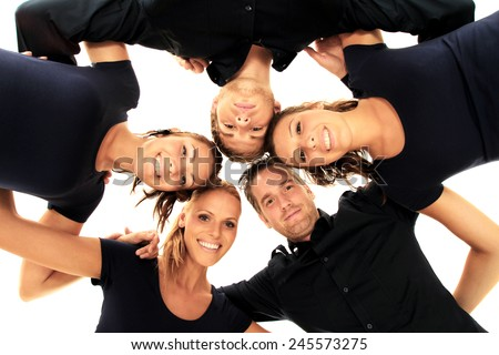 one team - stock photo