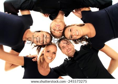 one team - stock photo