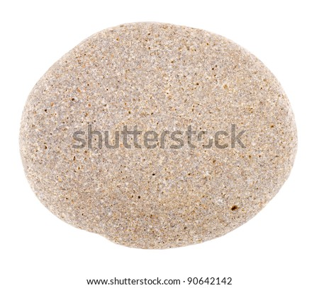 One the stones isolated on white background