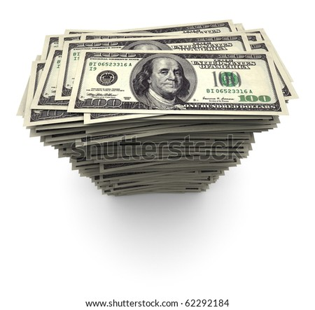 One thousand $100 US dollar bills. - stock photo