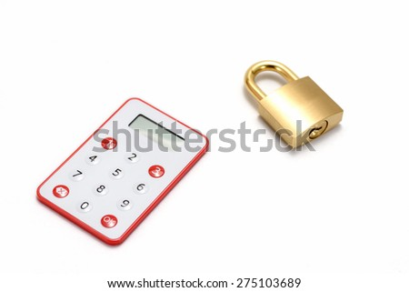 One-Time Password Card For Internet banking on white background. - stock photo