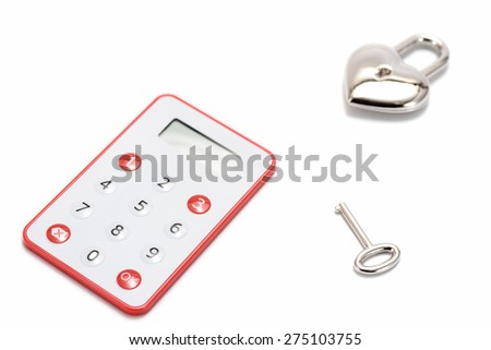 One-Time Password Card For Internet banking on white background.