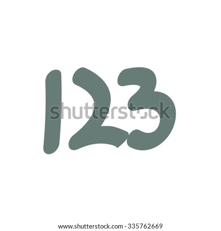 One, two, three icon. numbers icon. concept flat style design illustration icon. - stock photo