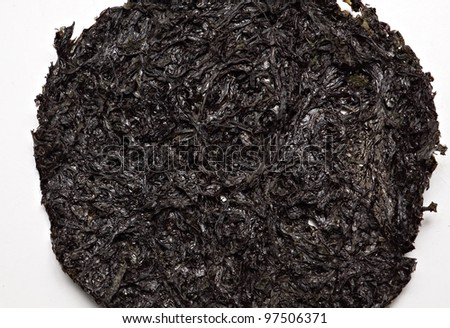One type of dried seaweed commonly used for salads and soups.