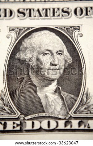 One U.S. dollar closeup - stock photo