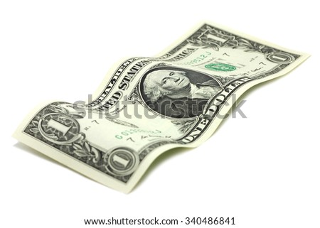 One US dollar on a white background