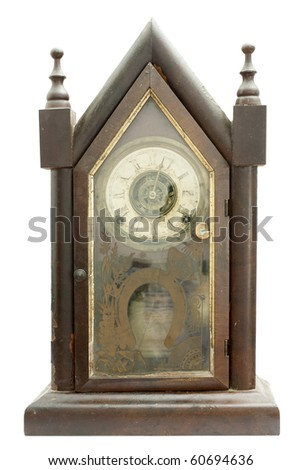 One very old and hand made German cuckoo clock - stock photo