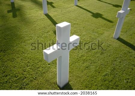One White Cross - stock photo