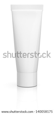 one white tube with empty space for custom text or image (3d render)