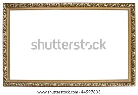 One wooden frame isolated on white background