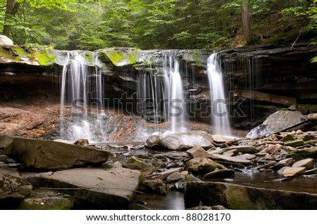 Oneida Falls in Ricketts Glen State Park, PA.