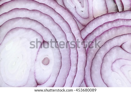 Onion rings, for background or textures   - stock photo