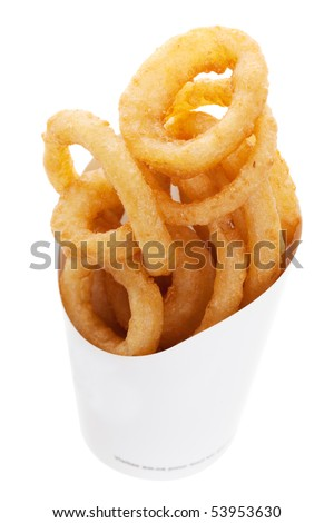 Onion Rings From a Fast Food Restaurant - stock photo