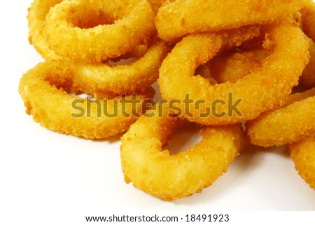 Onion Rings the Ultimate Fast Food Snack - stock photo