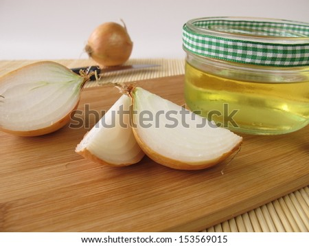 Onion syrup - stock photo