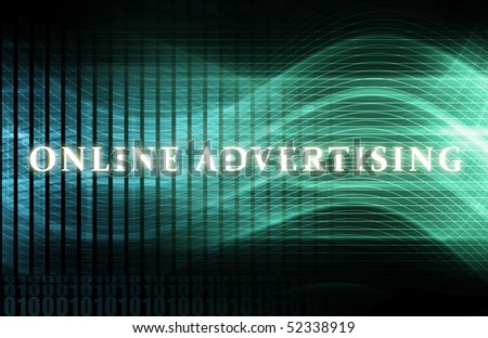 Online Advertising as a Concept Background Art - stock photo