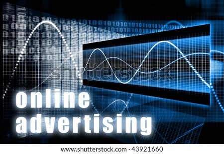 Online Advertising on the Web Creative Concept - stock photo