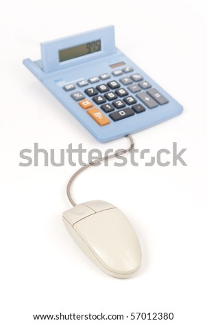 Online Banking and Calculations - stock photo