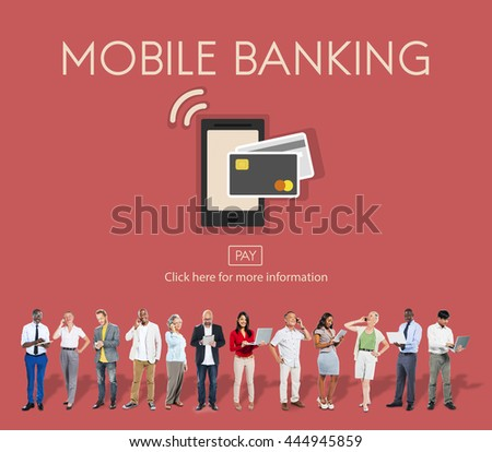 Online Banking Mobile Wallet E-banking Concept - stock photo
