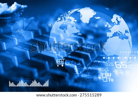 Online business concept  	 - stock photo
