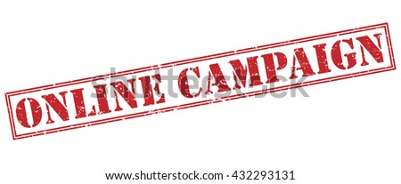 online campaign stamp - stock photo