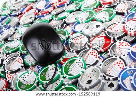 online casino poker concept - stock photo