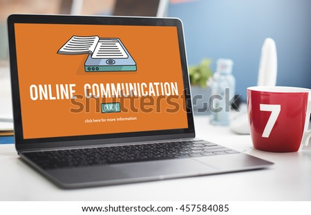 Online Communication Connection Information Concept - stock photo