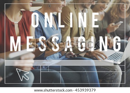 Online Community Communication Chat Blog Concept