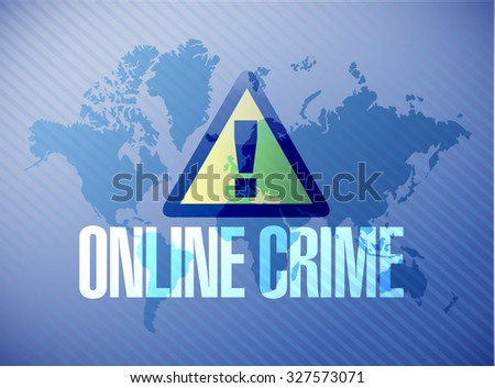 online crime warning map sign concept illustration design graphic - stock photo