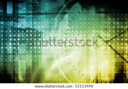 Online Customer Support Help Up time Concept Art - stock photo