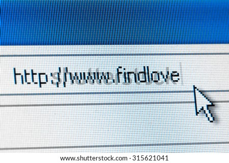 Online dating concept - looking for love on the internet - stock photo