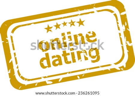 online dating stamp isolated on white background - stock photo