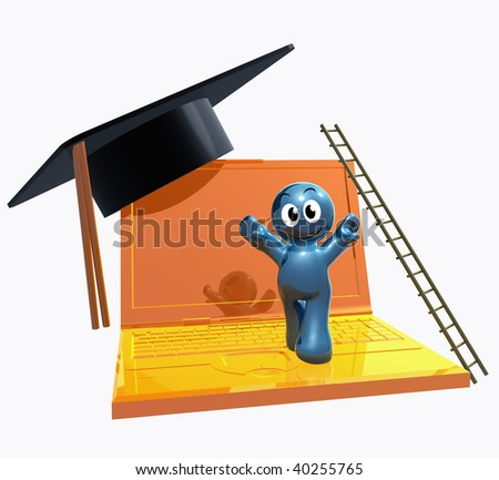 Online degree illustration symbol