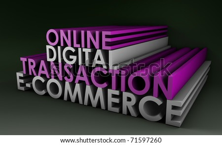 Online Digital Transaction in a E-Commerce Site - stock photo