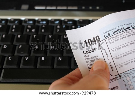 Online Filing - stock photo