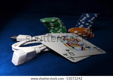 Online gamble - stock photo