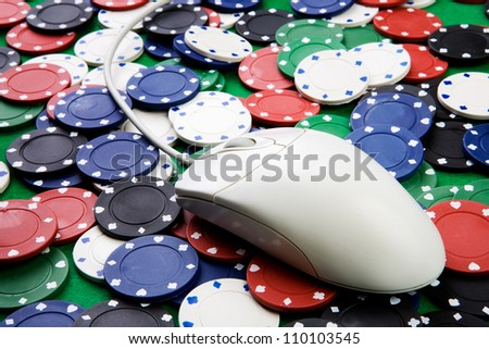Online gaming and gambling concept - stock photo