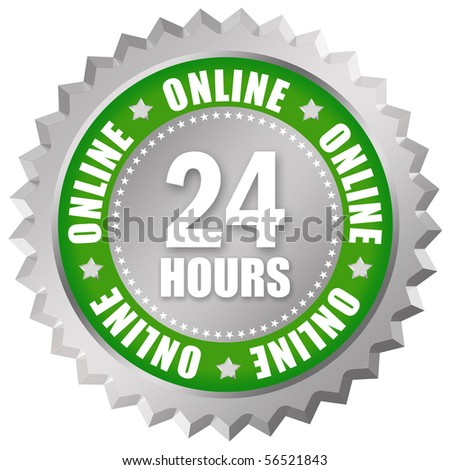 Online 24 hours - stock photo