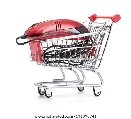 Online Internet Shopping.  isolated on white background