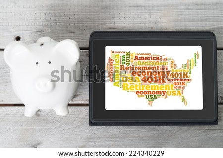 Online investment for 401k retirement plan concept - stock photo
