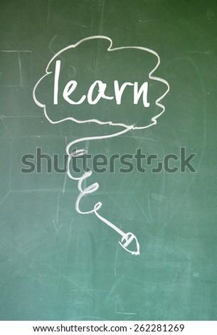 online learn sign on blackboard - stock photo