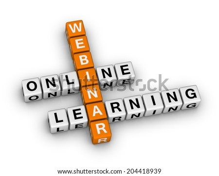 online learning webinar (orange-white crossword puzzles series)
