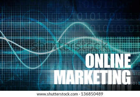 Online Marketing as a Core Concept Art - stock photo