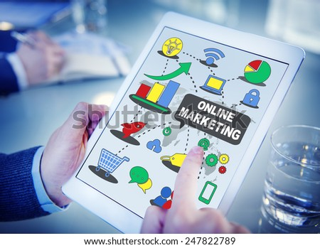 Online Marketing Business Global Concept - stock photo