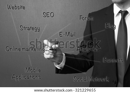 Online Marketing Concept - stock photo