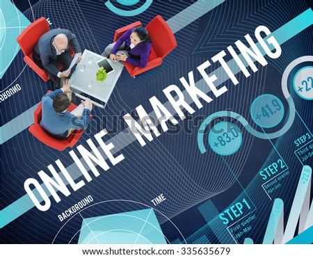 Online Marketing Global Business Strategy Concept - stock photo