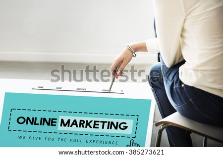 Online Marketing Homepage Website Digital Concept