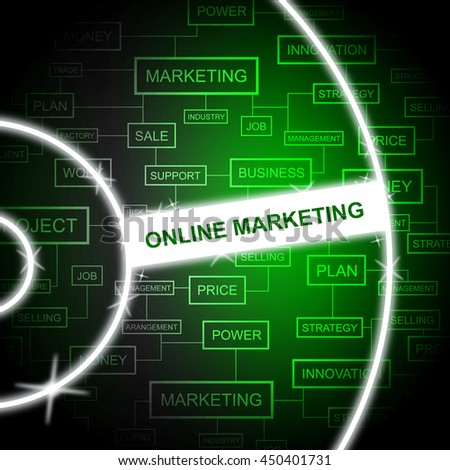 Online Marketing Indicating Web Site And Advertising