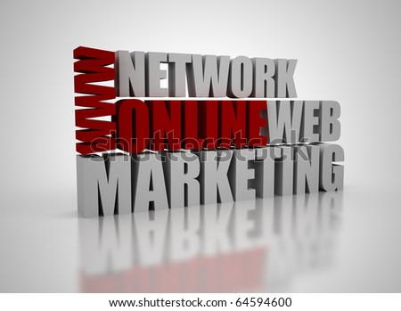 Online marketing related words - stock photo