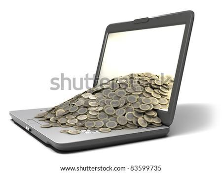 Online Money - stock photo